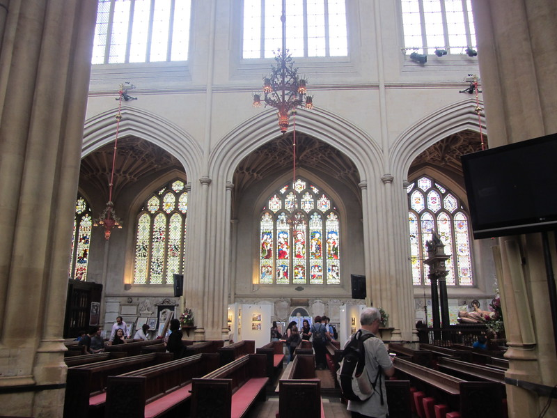 View of Bath Abbey. Notice the diapered arches.