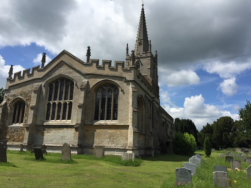 The Church of ST. Mary and St. Peter in Harlaxton village.