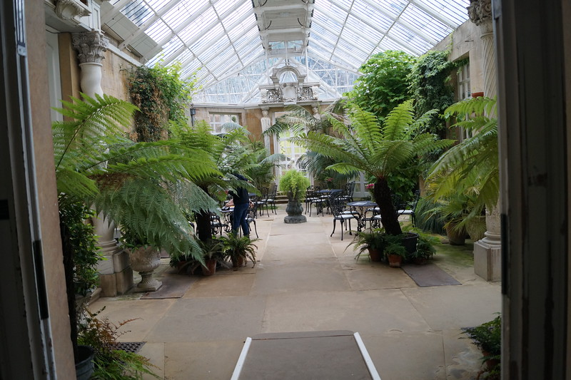 A view of the conservatory at Harlaxton.