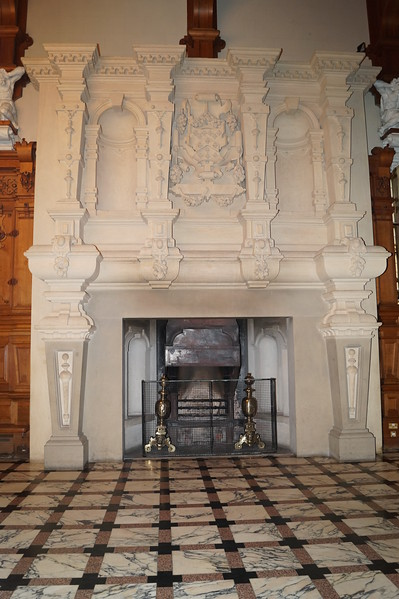 The fireplace in the great hall is where I first heard Harlaxton ghost stories.