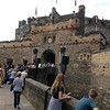 Main gate of Edinburgh castle - kids refused to go in - bored with castles by then!