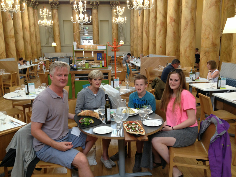 Fantastic Italian lunch in old ballroom building in York