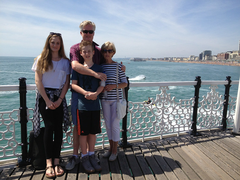 Having fun in the sun....Brighton pleasure pier looking the other way