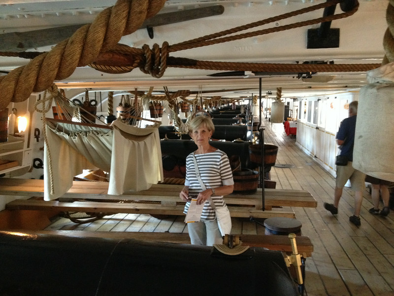 The gun deck of the HMS Victory sailed by Nelson at Trafalgar - also at Portsmouth