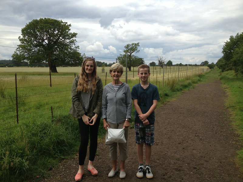 The three amigos on walk towards Windsor Castle Day 2