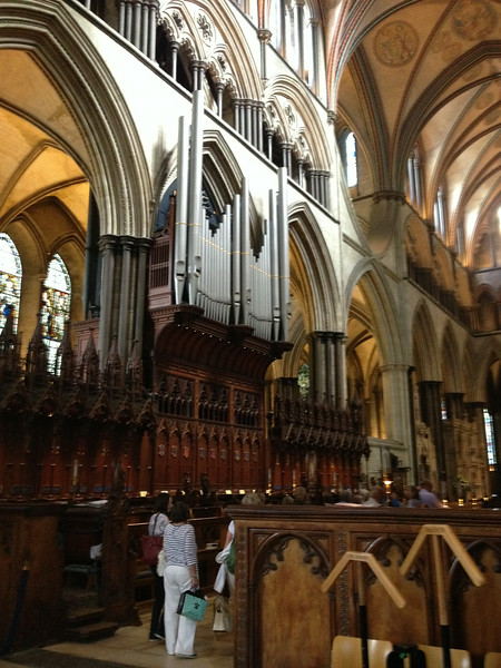 Inside Salisbury Cathedral - mind blowing - that's an organ