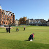 Tee off at one of the courses in St. Andrews - note the Canadian flag