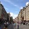 The royal mile in Edinburgh...links 2 palaces