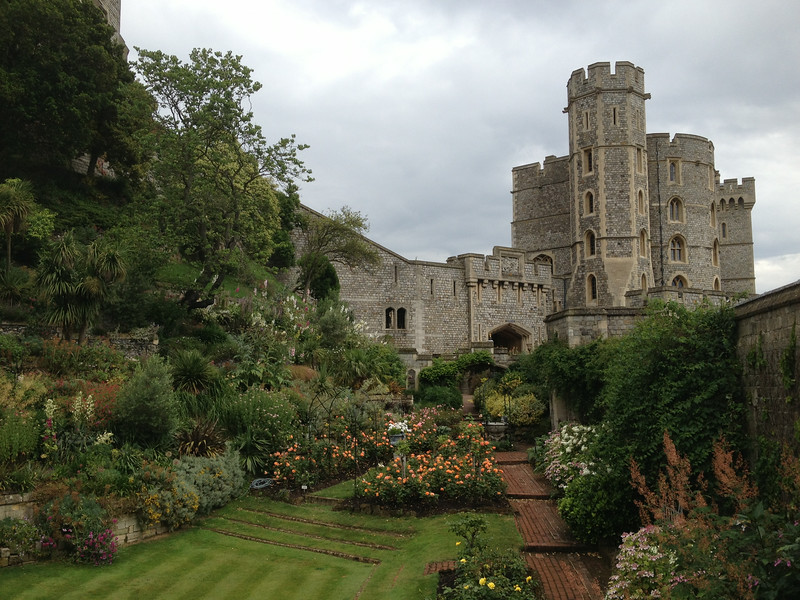 The moat in Windsor Castle has been filled in beautifully