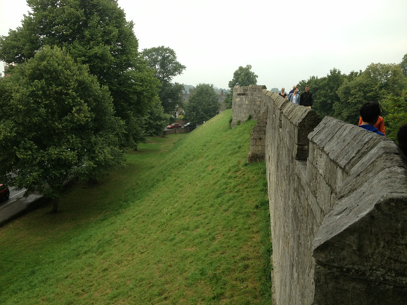 The fortress walls of York - 2nd most important city in England's history
