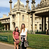 The mind-blowing Royal Pavilion in Brighton - Claire and her friend Emma from Roberts Creek