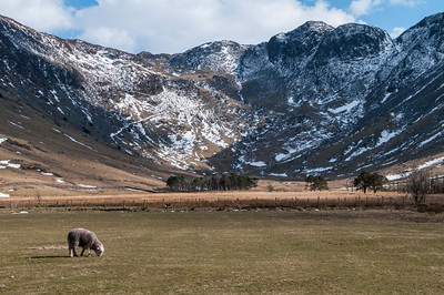 Scene from one end of Buttermere in Lake District