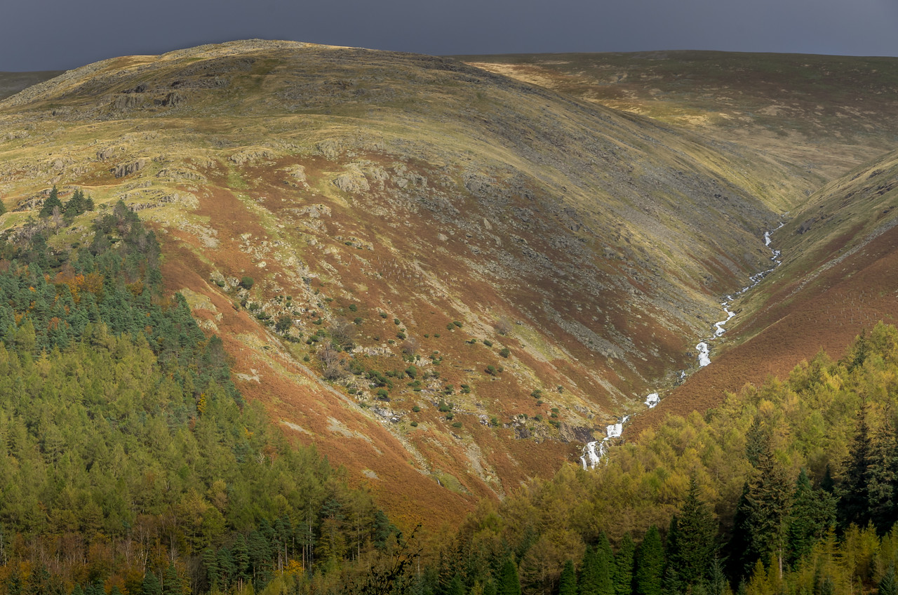 Looking up towards Helvellyn near Thirlmere