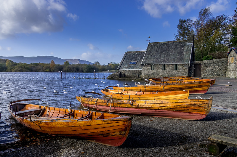 At  the Theatre by the Lake at Derwent Water