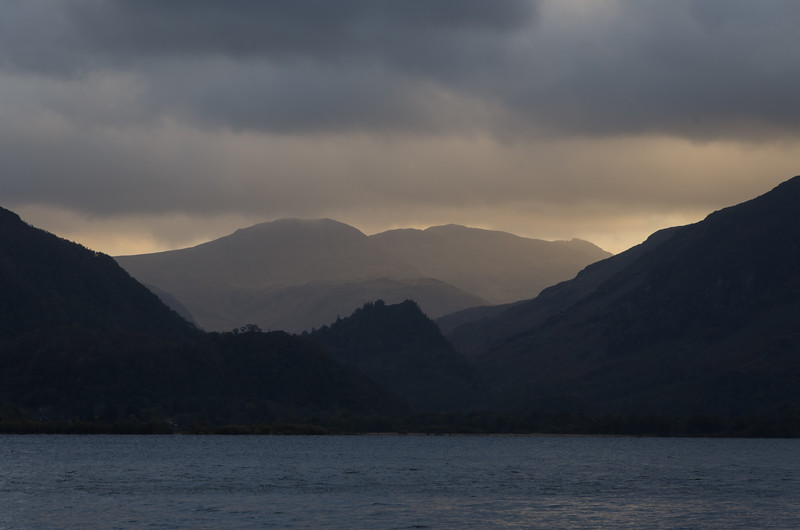A stormy day looking south across Derwent Water