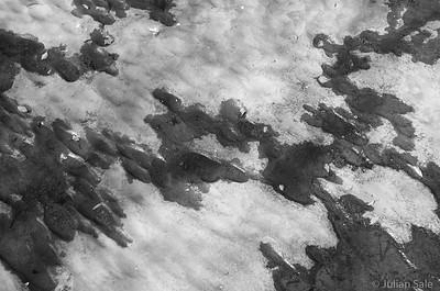 Interesting pattern in riverbed in Dentale.