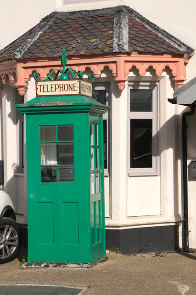 Old Green Telephone Box by  Boulters Restaurant and Bar Maidenhead