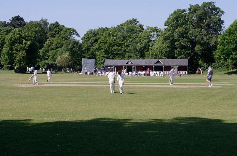 Playing cricket at Marlow Buckinghamshire
