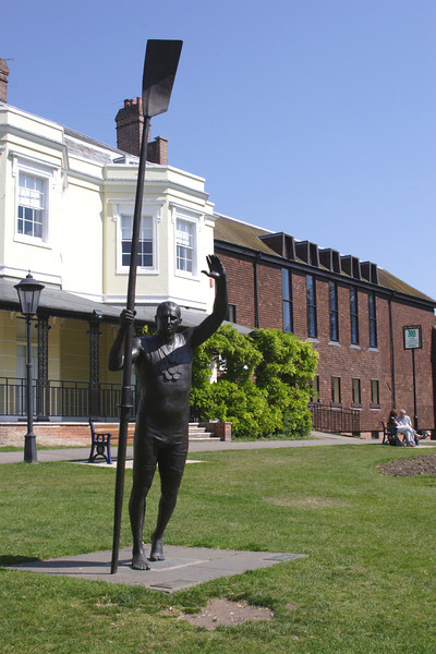 Sir Steve Redgrave statue Marlow Buckinghamshire