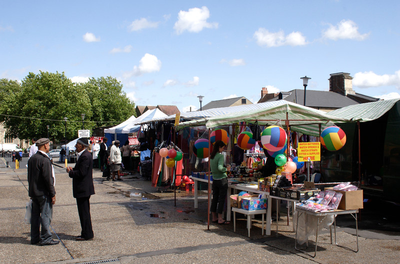 Stalls at Hosier Street Market Reading Berkshire