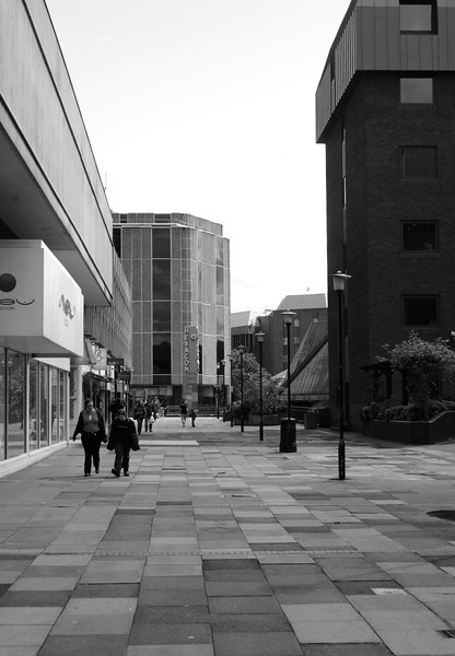 Pedestrian Alley by Broad Street Mall Reading Berkshire