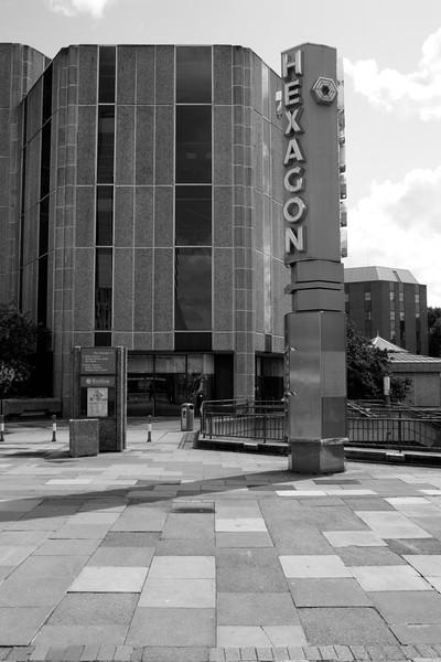 Hexagon Theatre sign Reading Berkshire