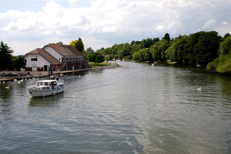 River Thames view from Caversham Bridge Reading Berkshire