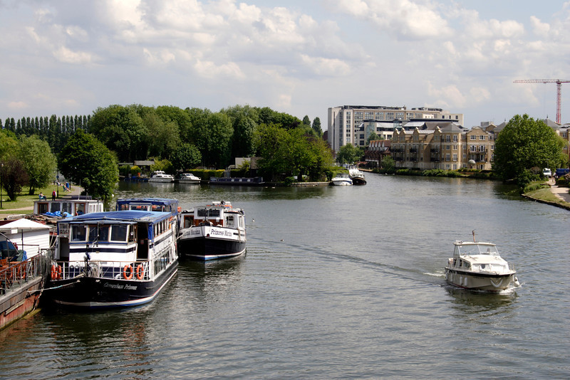 River Thames view from Caversham Bridge Reading Berkshire