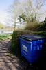 Waste bin at Sonning village Berkshire