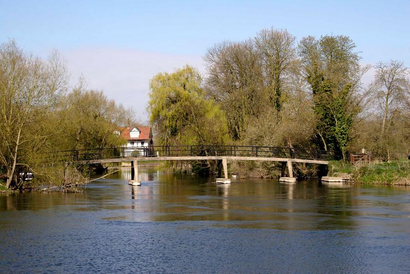 Footbridge over the River Thames at Sonning Berkshire
