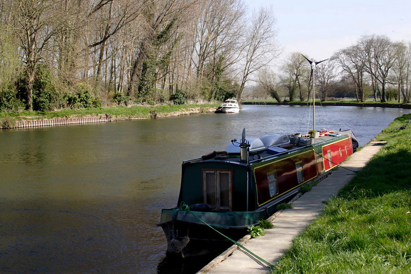 Houseboat on River Thames at Sonning Berkshire