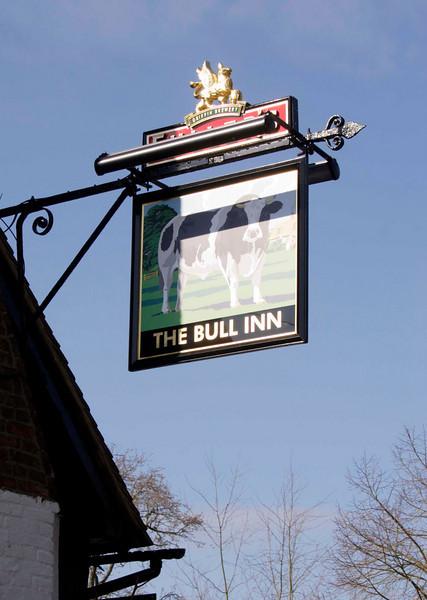 The Bull Inn Pub sign Sonning Berkshire