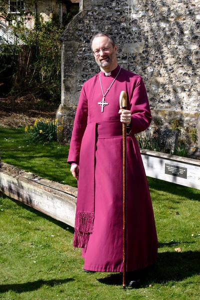 Bishop of Buckingham at Turville church Buckinghamshire