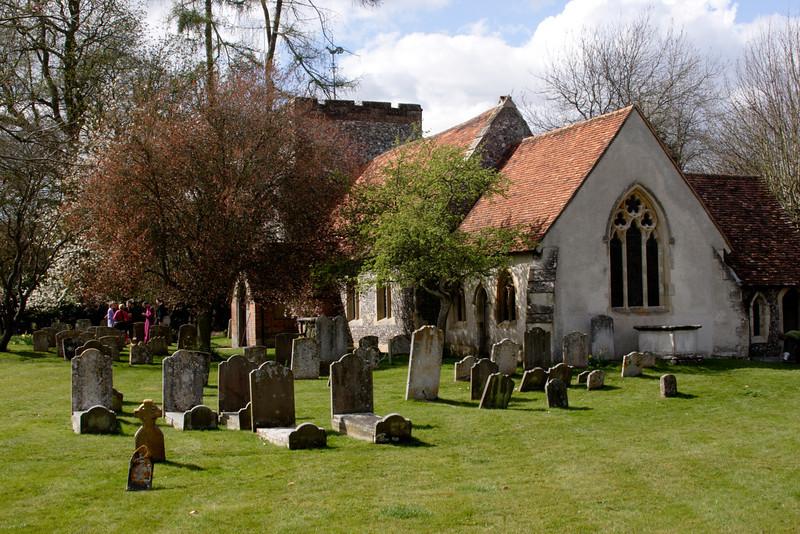 Turville village church Buckinghamshire England
