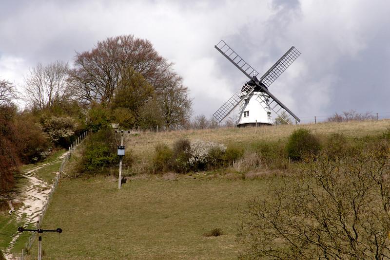 Windmill overlooking Turville village Buckinghamshire