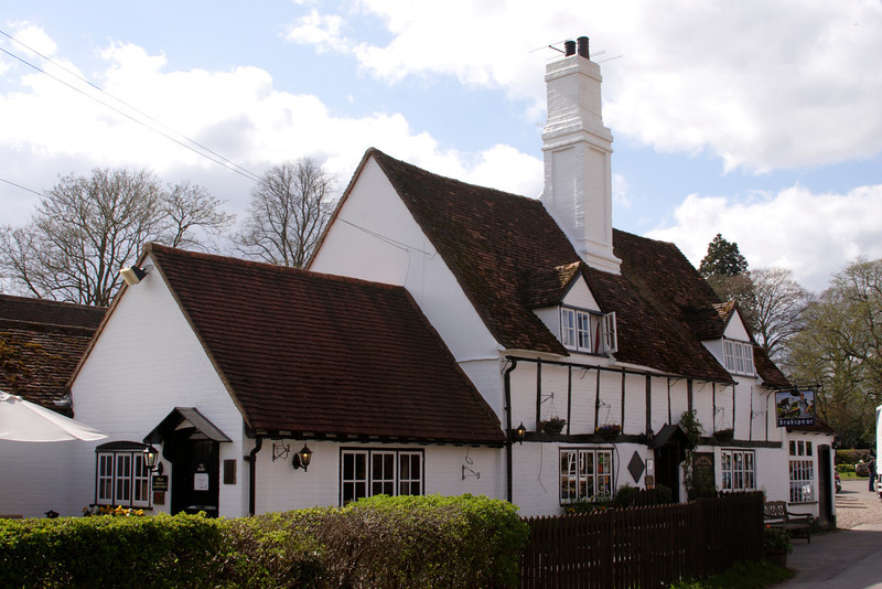 Bull and Butcher Pub at Turville village Buckinghamshire