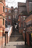 Steps to rear of King and Castle pub Windsor Berkshire