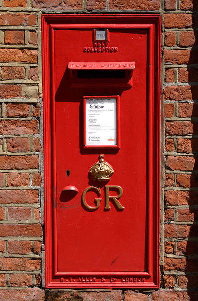 English post box Windsor
