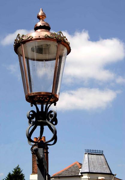 Street lamp Eton Berkshire summer 2007