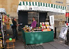 Olive Oil and Vinegar stall Union Street Bath Somerset