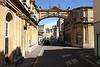 Arch off Roman Baths Museum on York Street Bath Somerset