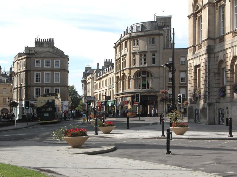 View towards Cheap Street Bath Somerset