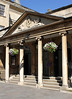 Entrance to The Pump Room Bath Somerset