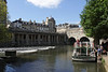 River Avon and Pulteney Bridge Bath Somerset