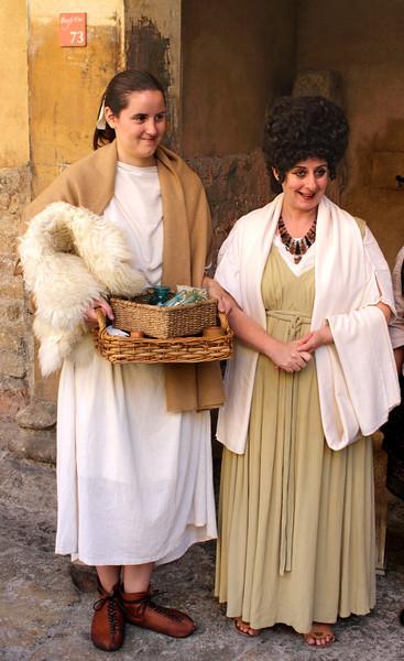 Roman citizens at Roman Baths Museum Bath Somerset
