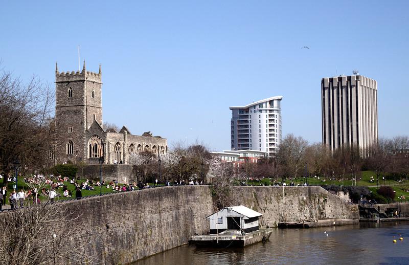 Castle Park by the River Avon Bristol
