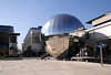 Mirrored Planaterium Sphere at Millenium Square Bristol