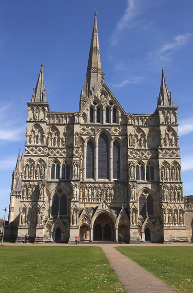 West Front Salisbury Cathedral Wiltshire