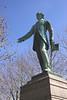 Henry Fawcett statue in Salisbury Market Square Wiltshire