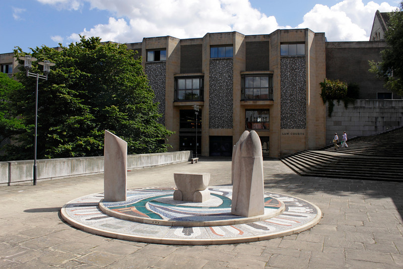 Jubilee sculpture near the Law Courts Winchester